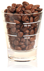 Coffee bean glass