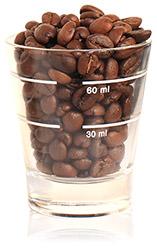 Coffee bean glass